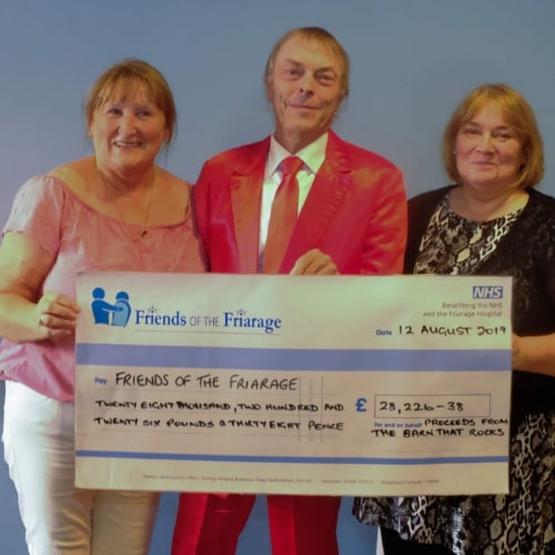 Friends of the Friarage Barn that Rocks Cheque