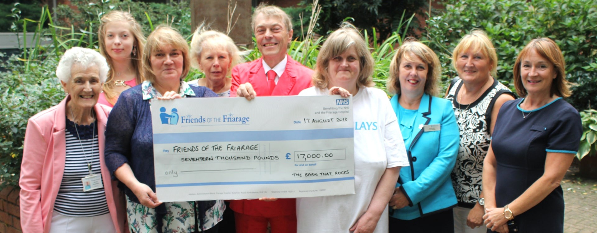 Friends of the Friarage Big NHS Cheque